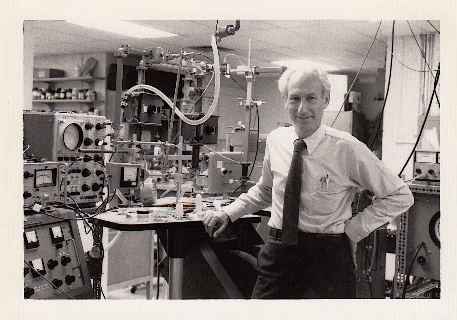 Art Brill in his lab