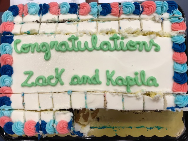 Cake for Zack and Kapila